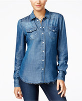 Jessica Simpson Pixie Ripped Chambray Shirt