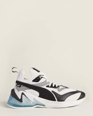 Puma White & Black LQDCELL Origin Running Sneakers