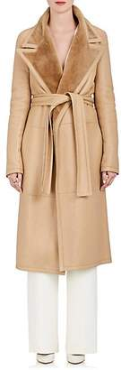 The Row Women's Cintry Shearling Duster Coat - Almond