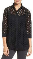Foxcroft Women's Gigi Eyelet Cotton Tunic