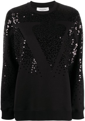 Valentino sequin VLOGO sweatshirt