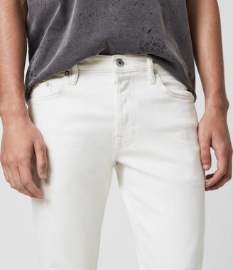 AllSaints Dean Cropped Slim Jeans, White