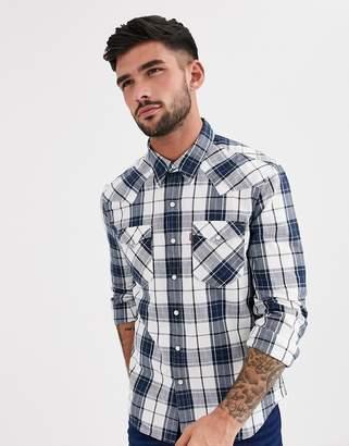 Levi's barstow western shirt-White