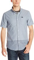 RVCA Men's That'll Do Layers Short Sleeve Shirt, Blue/Grey