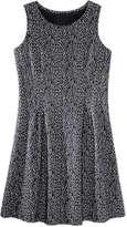 Joe Fresh Women's Print Fit and Flare Dress, Black (Size M)