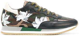 Philippe Model Paris floral camouflage sneakers