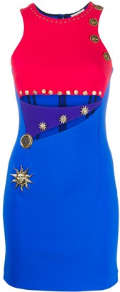 Fausto Puglisi Colour Block Cut-Out Detail Dress