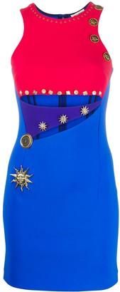 Fausto Puglisi colour block cut-out detail dress