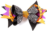 Beary Basics Black & Orange Spiderweb Hair Clip