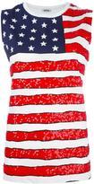 P.A.R.O.S.H. american flag print tank - women - Cotton/PVC - M