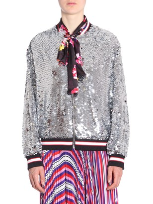MSGM bomber jacket with maxi sequins
