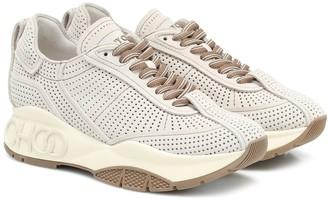 Jimmy Choo Raine perforated suede sneakers
