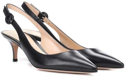 Gianvito Rossi Exclusive to mytheresa.com – Anna leather slingback pumps