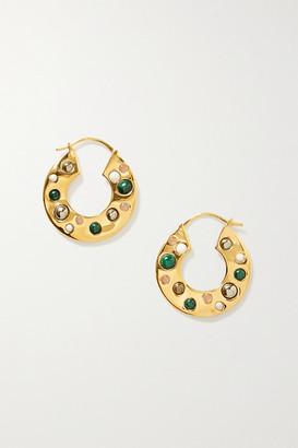 Anna Beck Rasa X Gold-plated Multi-stone Hoop Earrings