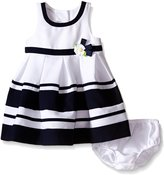 Bonnie Baby Baby Solid Banded Nautical Dress