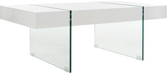 Safavieh Jacob Rectangular Glass Leg Modern Coffee Table