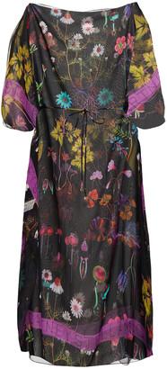 Stella McCartney Trippy Floral-print Silk-georgette Kaftan