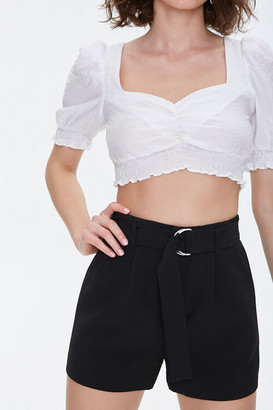 Forever 21 D-Ring Belted Shorts