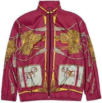 Gucci Fuchsia Printed Shell Jacket