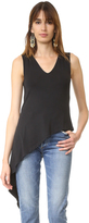 Haute Hippie V Neck Asymmetric Top