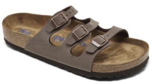 Birkenstock Women's Florida Birkibuc Nubuck Soft Footbed Sandals from Finish Line