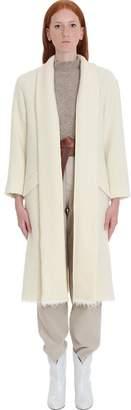 Etoile Isabel Marant Faby Coat In Beige Wool