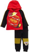 Children's Apparel Network Cars Raglan Hoodie & Sweatpants - Toddler