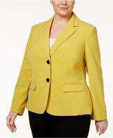Nine West Plus Size Two-Button Jacket