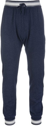 Kiton Blue Sport Pant In Blue Cashmere