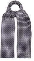 Dunhill Geometric-print silk-blend scarf