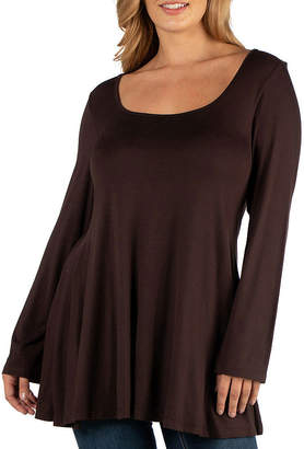 24/7 Comfort Apparel Long Sleeve Flared Tunic