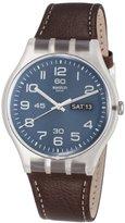 Swatch Unisex SUOK701 Daily Friend Analog Display Quartz Brown Watch