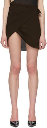 Helenamanzano SSENSE Exclusive Brown Wrap Skirt
