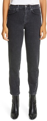 Totême Twisted Seam High Waist Straight Leg Crop Jeans
