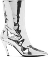 Balenciaga - Bottes argentées Mirror