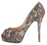Laurence Dacade Lace Peep-Toe Pumps