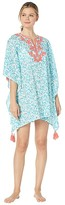 Tommy Bahama Coral Cabana Embroidered Tunic (White) Women's Swimwear
