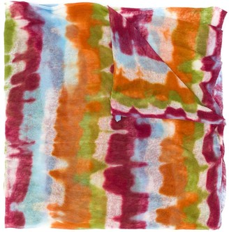 Missoni striped tie-dye print scarf