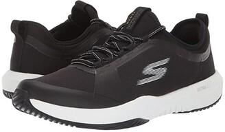 SKECHERS Performance Go Train Venom (Black/White) Men's Shoes