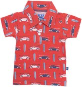 Kickee Pants Print Polo (Baby) - Poppy Surf Trip-Preemie