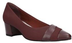 Easy Street Shoes Elle Block Heel Pumps Women's Shoes