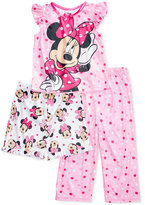 3-Pc. Minnie Mouse Pajama Set, Toddler Girls (2T-5T)