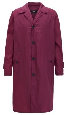 HUGO BOSS Regular-fit coat in water-repellent fabric