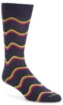 Lorenzo Uomo Men's Freeform Chevron Socks