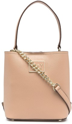 DKNY Bianka leather bucket bag