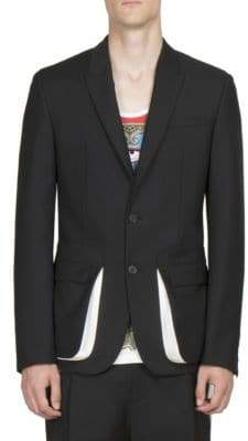 Givenchy Double Button Wool Blend Blazer