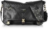 Balmain Nomade Medium Black Quilted Leather Men's Messenger Bag
