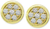 Giani Bernini Cubic Zirconia Pave Stud Earrings in Sterling Silver, Created for Macy's