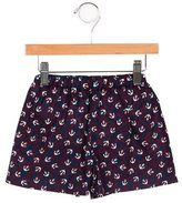 Rachel Riley Girls' Anchor Print Knee-Length Shorts