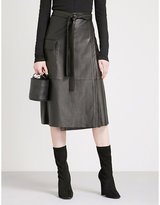 Alexis Nita high-rise leather skirt